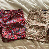 Lot of 2 Pairs Bandolino Womens Shorts-Amy- Paisley Ceremony-Size-6 Photo
