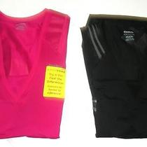 Lot of 2 Reebok Women's Easytone Taped Short Sleeve Workout Tops Medium Tight Photo