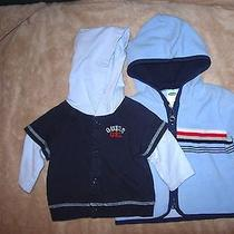 Lot of 2 Size 3-6 Month Boys Jackets-Navy by