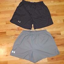 Lot of 2 Under Armour Athletic Quick Dry Loose Fit Training Shorts Mens Large Photo
