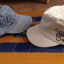 Lot of 2 Womans  Life Is Good & Element  Military Cadet Hats Photo