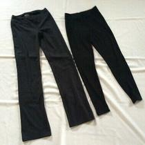 Lot of 2 Women's Xs Black Workout Pants - Augusta Sportswear Pants  & Gap Capri  Photo