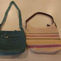 Lot of (2) Woven Purses - Liz Claiborne & Jaclyn Smith - Preowned Photo