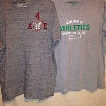 Lot of 2x Aeropostale & American Eagle Outfitters Tshirts. Grey. Photo