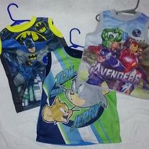 Lot of 3 4t Boy Tank Top Sleeveless Tom & Jerry Batman and Marvel Avengers Photo