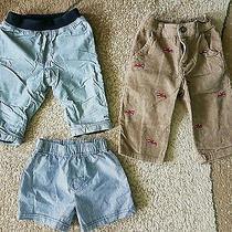 Lot of 3 Baby Boy Pants Shorts Gray Brown Velvet Baby Gap Gymboree 6-12 Month Photo