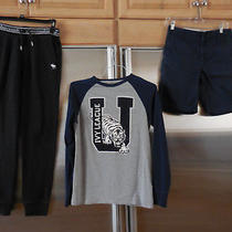 Lot of 3 Boys Navy Shorts &1 A/f Abercrombie Fitch Sweats Pants &h&m Shirt 13/14 Photo