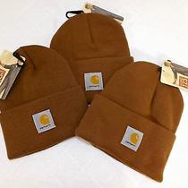 Lot of 3 Carhartt Brown Acrylic Knit Watch Cap / Hat Photo