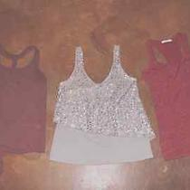 Lot of 3 Charlotte Russe Junior Tops for Fall/holidays Size S/m Photo