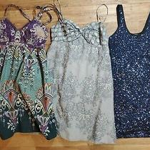 Lot of 3 Express & Limited Womens Dresses Sz 8 & Large Summer Sequin Tank Gray Photo