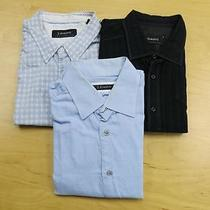 Lot of 3 J. Campbell Long Sleeve Button Front Casual Woven Shirts Size Large Xxl Photo