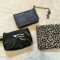 Lot of 3 Ladies Wallet Coin Purse Bloomies Leopard Leather Photo