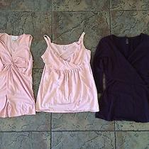 Lot of 3 Maternity Clothes Tops Size S and M Motherhood Gap Photo
