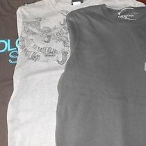 Lot of 3 Men's American Eagle Volcom T-Shirt Size Small Brown Gray Short Sleeve Photo