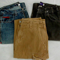 Lot of 3 Men's Jeans Levis Baggy Us Polo Carpenter American Eagle Khaki 30x30  Photo