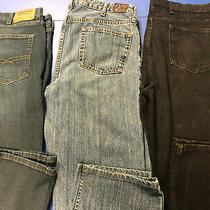 Lot of 3 Men's Jeans Size 38 X 30 Signiture S67 Lands End No Brand Black Photo