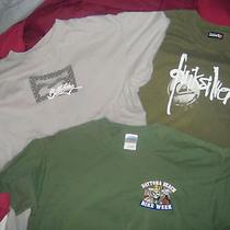 Lot of 3 Men's T-Shirts Quiksilver Billabong Bike Week Photo