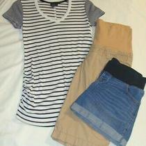 Lot of 3 Mix Maternity Size M/6 Gap - Old Navy - Oh Baby - Shorts & Tee Photo