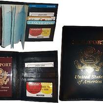 Lot of 3 New 4 Credit Cards  Id Lamb Skin Usa Leather Passport Case Wallet Bnwt Photo