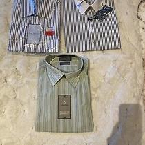 Lot of 3 Nwt Mens Button Down Dress Shirts Claiborne Express Tommy Hilfiger Photo