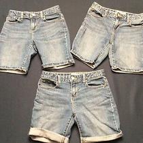 Lot of 3 Pair Denim Blue Jean Shorts Size 12 Old Navy Photo