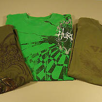 Lot of  3 T Shirts Hurley Vans & Other Men Large Good Condition  Photo