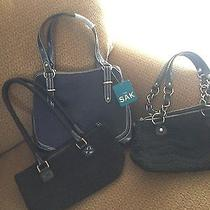 Lot of 3 the Sak Handbags Navy & Black One Nwt the Others Fabulous Photo