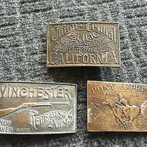 Lot of 3 Vintage Metal Belt Buckles