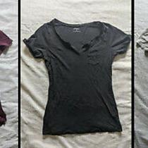Lot of 3 Women Basic Casual T-Shirt Blouse Tops Express & Aeropostale Sz Xs - S Photo