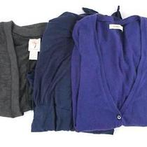 Lot of 3 Women's Back to School Elements Old Navy Shrug Sweater Light Size Small Photo