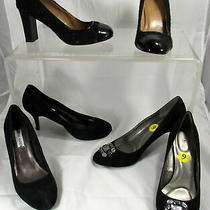 Lot of 3 Women's High Heels Black Talbots Steve Madden Bandolino Size 9m Photo