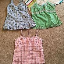 Lot of 3 Women's Junior Sz S Guess American Eagle Cami Photo