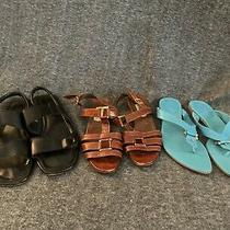 Lot of 3 Womens Sandals Size 5.5 Photo
