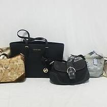 Lot of (4) Coach (1) Michael Kors Purses Photo
