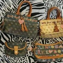 Lot of 4 Dooney & Bourke Coated Canvas Bags & Wristlet  Free Shipping Photo