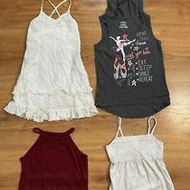 Lot of 4 Girls Old Navy Justice Tank Top Shirts Size 7 Photo