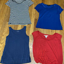 Lot of 4 Ladies M Knit Tops Banana Republic Eddie Bauer Photo