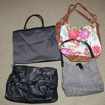 Lot of 4 Large Purses Calvin Klein and Other Makes Excellent Condition Photo