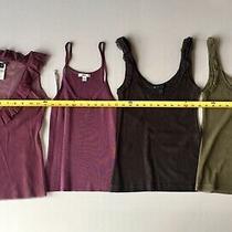 Lot of 4 Mango Womens Tanks Purple Brown Green Size Xs Bcbg Dvf Photo