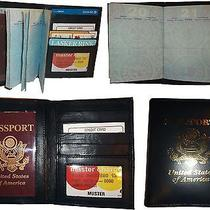 Lot of 4 New 4 Credit Cards  Id Lamb Skin Usa Leather Passport Case Wallet Bnwt Photo