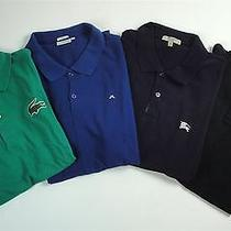 Lot of 4 S/s Polo Tops Lacoste J.lindberg Burberry Polo Sz Med Photo