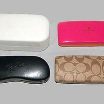 Lot of 4 Sunglass Cases - Marc Jacobs / Kate Spade / Coach / Ray Ban  Photo