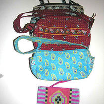 Lot of 4 - Vera Bradley Bags & Nwt Express Beaded Wrist Purse Photo