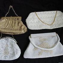 Lot of 4 Vintage Dress Purses Handbags Whiting & Davis Beaded Mesh More Photo