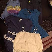 Lot of 5 - American Eagle Express Cedar Tree Tops Shirts Blouses Small S Euc Photo