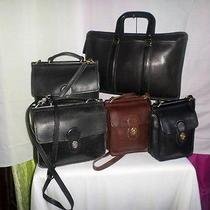 Lot of 5 Authentic Vintage Coach Leather Satchels  Photo
