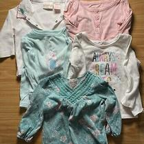 Lot of 5 Baby Girl Clothes Shirts Tops Used Old Navy Jumping Beans Circo 6-18 M Photo