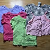 Lot of 5 Baby Girl Clothes Shirts Tops Used Old Navy Vitamins Garanimals 12-24 M Photo