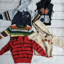 Lot of 5 Baby Toddler Boy Sweaters 18 Months - Chaps Baby Gap Gymboree & More Photo