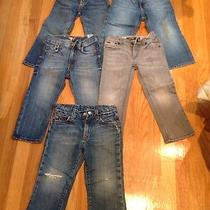 Lot of 5 Boys Size 3&4 Jeans Polo Ralph laurenh&mjoeslucky Brand Photo